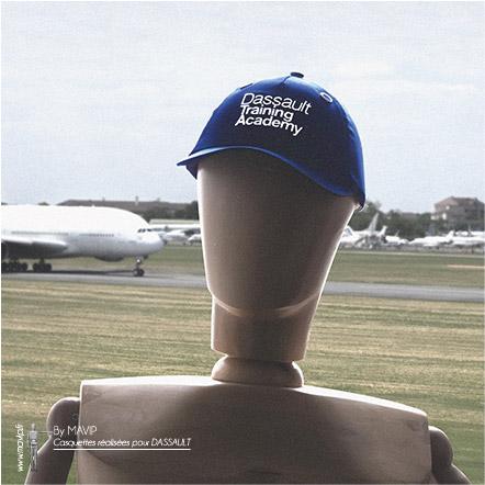 Casquettes personnalisables réalisées pour Dassault par Mavip