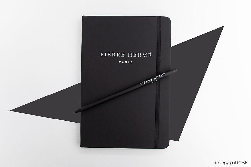 Carnets personnalisés réalisés pour Pierre Hermé par Mavip