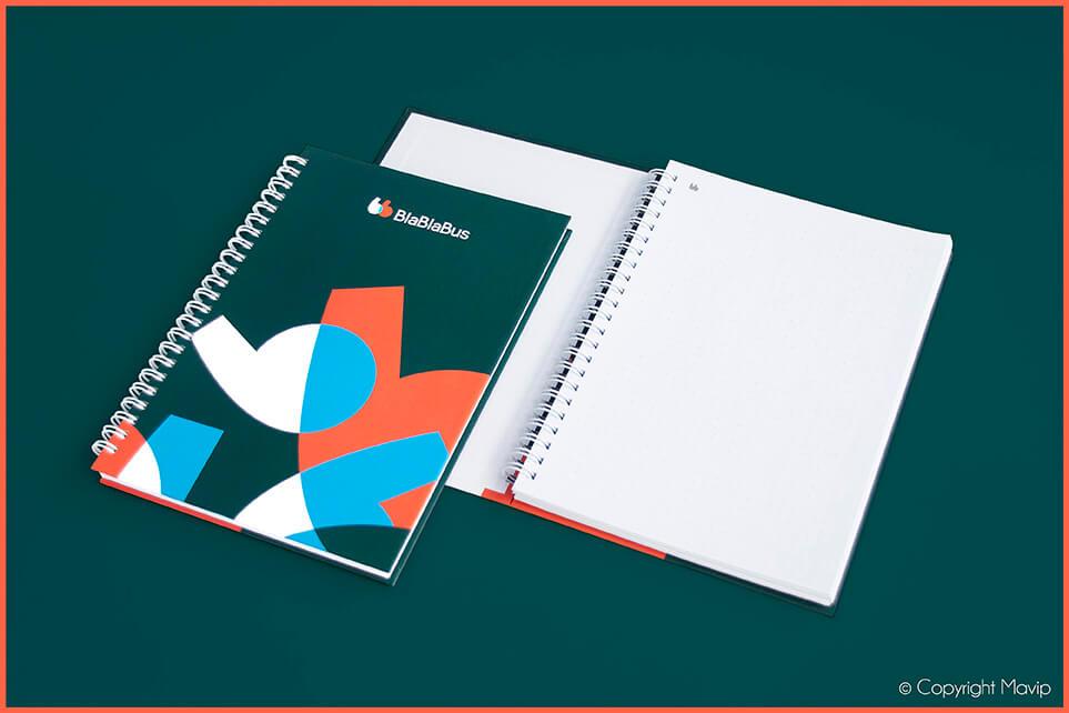 Carnets personnalisés réalisés pour Blablabus par Mavip