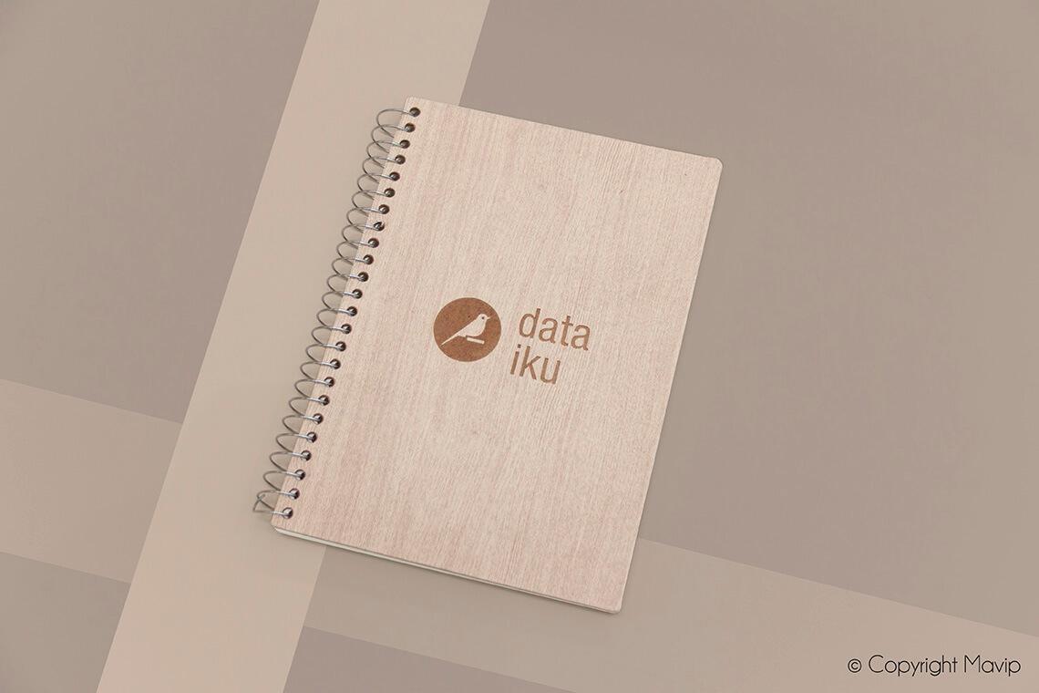 Carnets personnalisés réalisés pour Data iku par Mavip