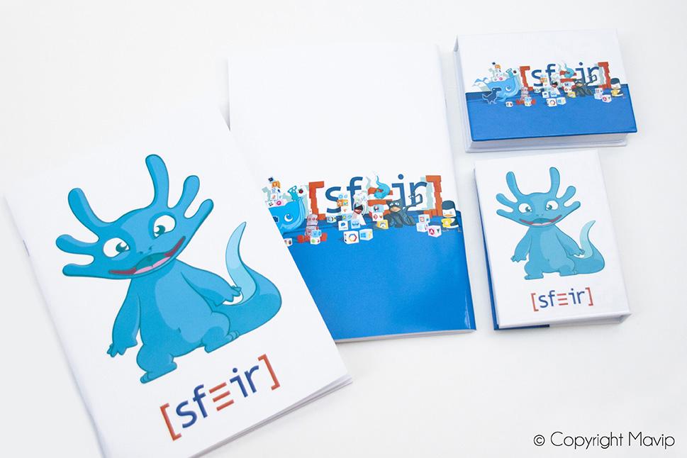 Bloc note et post-it personnalisable avec logo d'entreprise objet média by Mavip