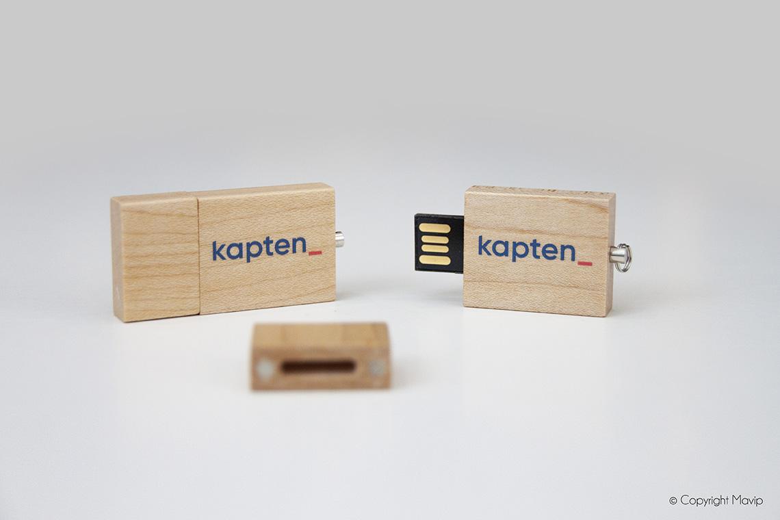Clé usb en bois personnalisable avec logo d'entreprise by Mavip