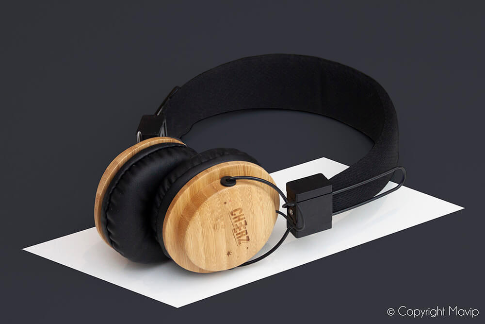 Casques audio personnalisés réalisés pour Cheerz par Mavip