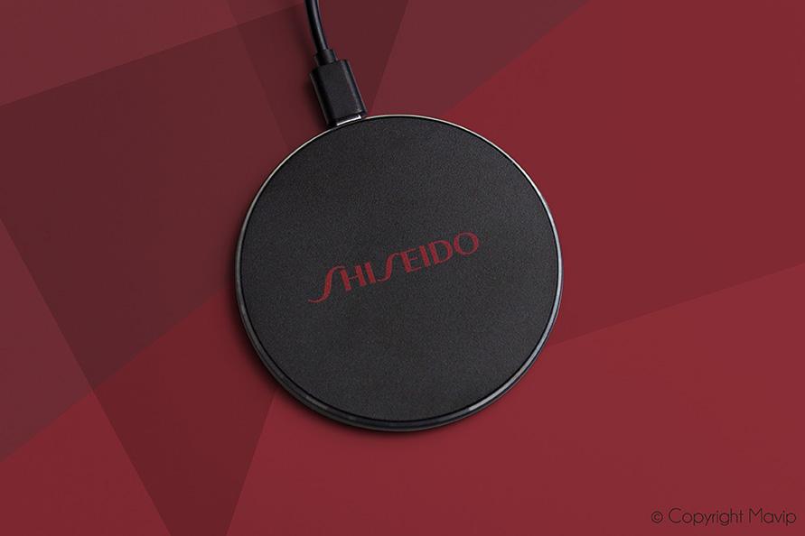 Chargeurs à induction réalisés pour Shiseido par Mavip