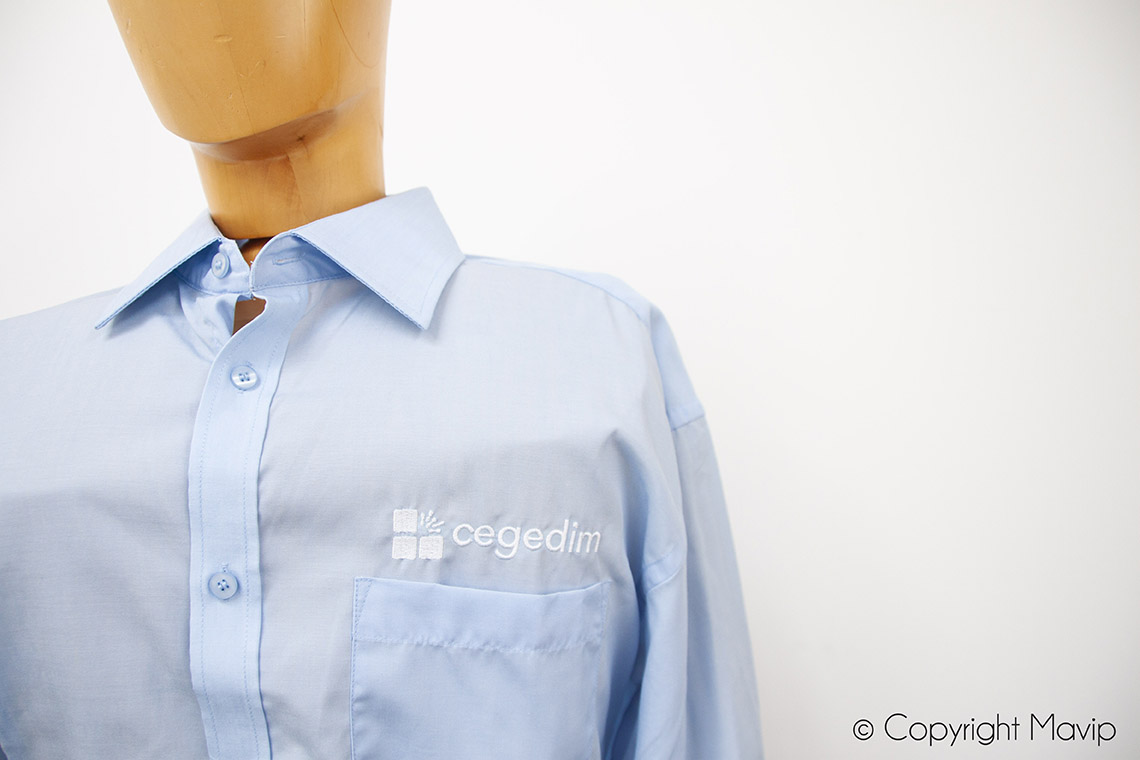Chemise personnalisable avec logo brodé by Mavip