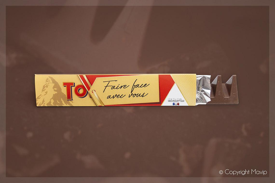 Chocolats Tobleronne personnalisables avec logo d'entreprise par Mavip