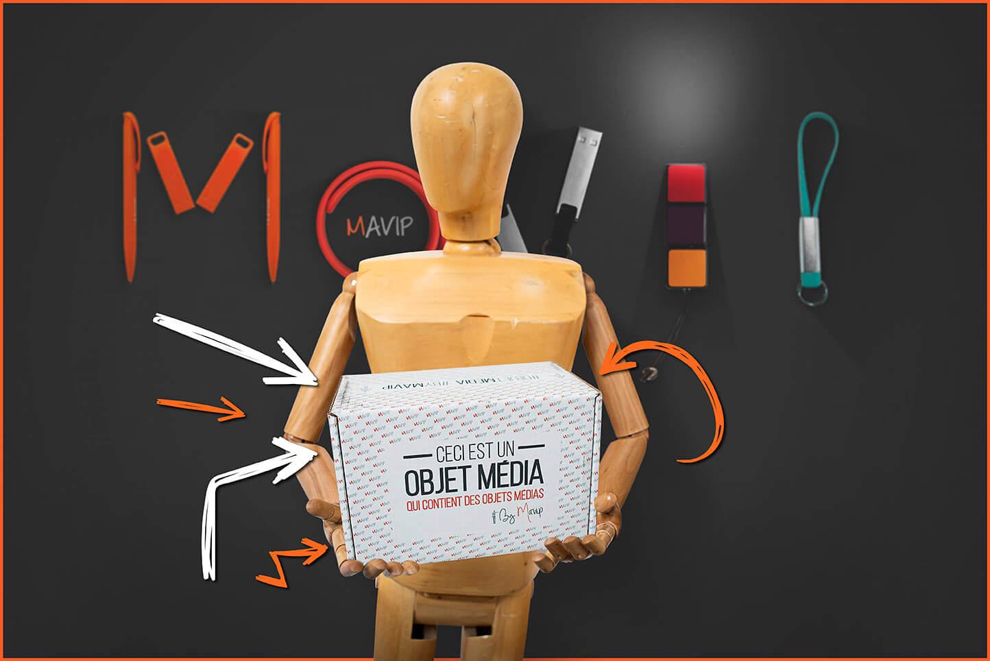 Communication par l'objet média personnalisé avec logo d'entreprise by Mavip