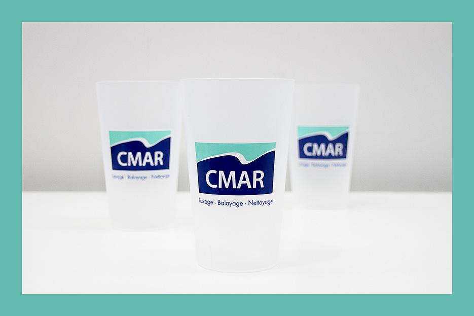 Ecocup réalisés pour CMAR par Mavip