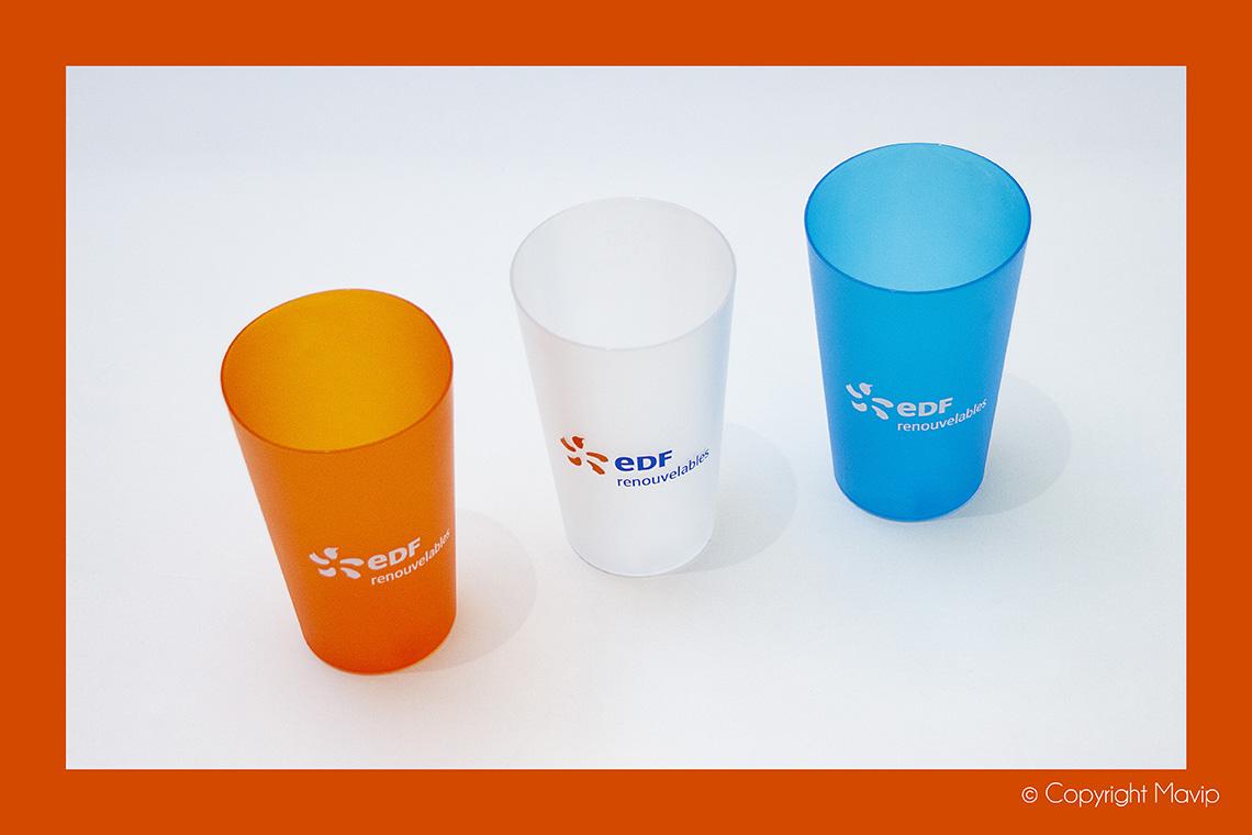 Ecocup réalisés pour EDF par Mavip