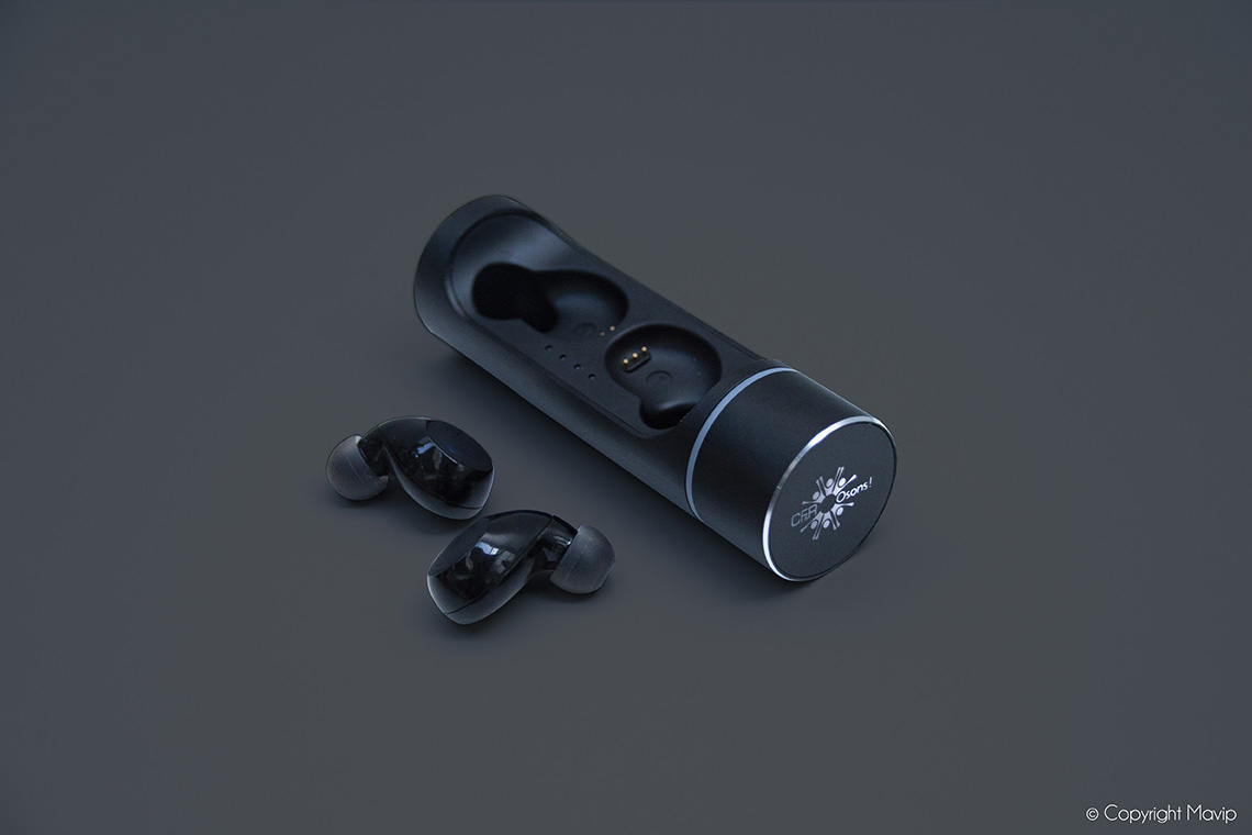 écouteurs sans fils personnalisables avec logo d'entreprise par mavip