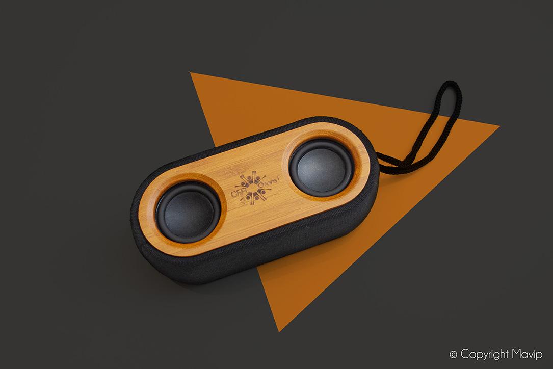 Enceintes Bluetooth réalisées par Mavip