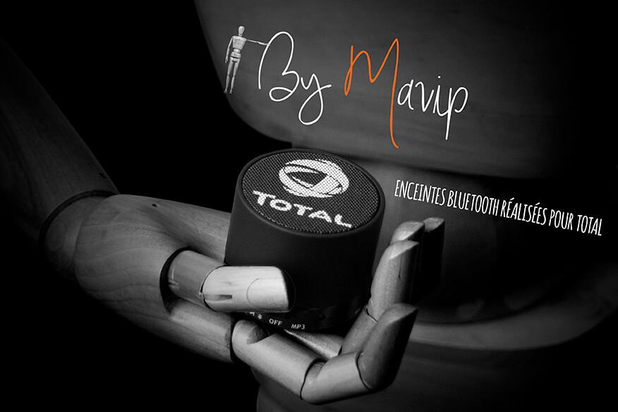 Enceintes réalisées pour Total par Mavip