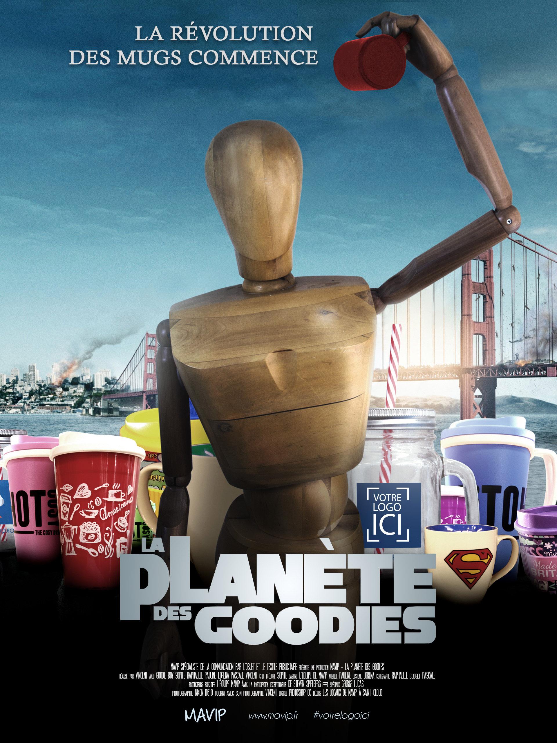 La planète des singes avec des objets pub et Goodie Boy