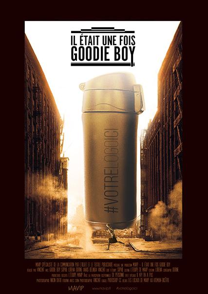 Goodie Boy fait son cinéma avec des objets publicitaires personnalisés avec logo d'entreprise