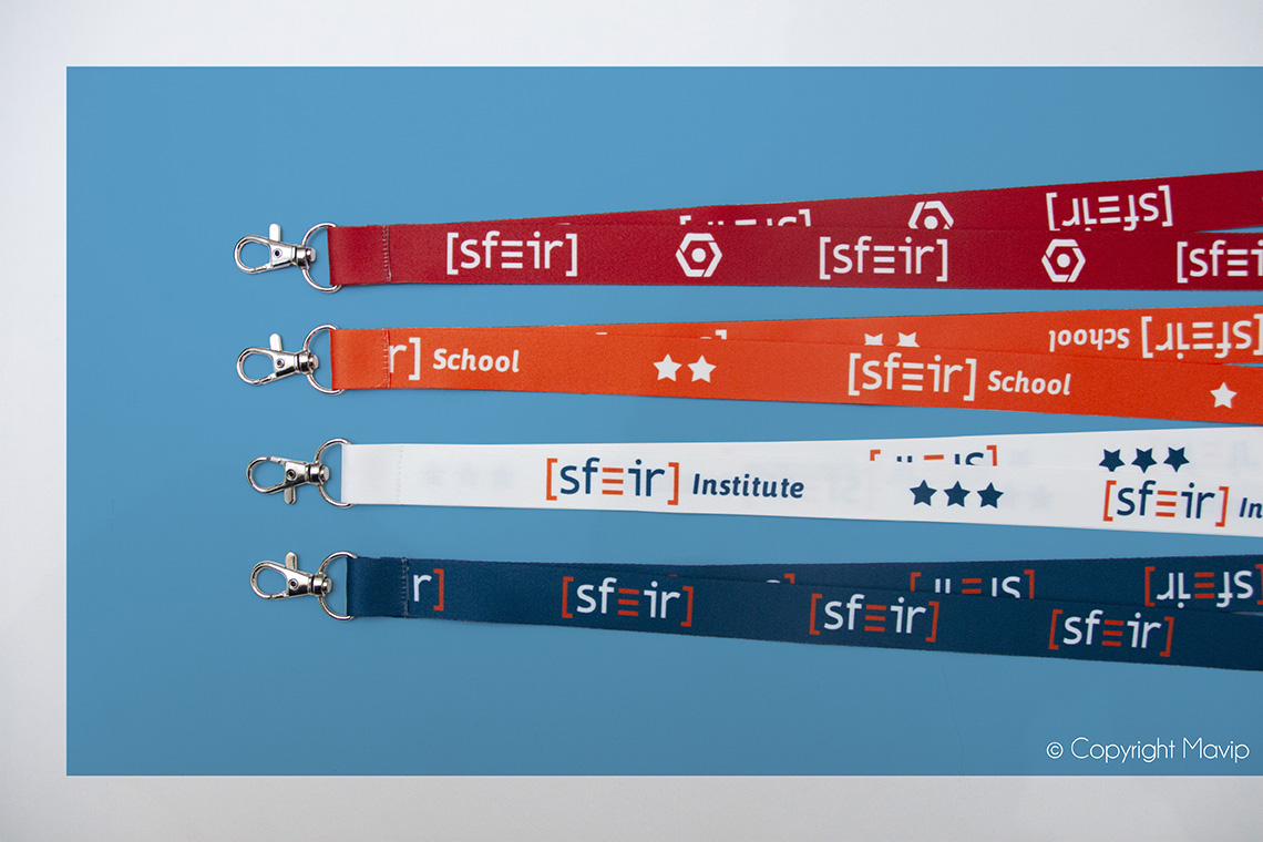 Lanyards personnalisables avec logo d'entreprise by Mavip
