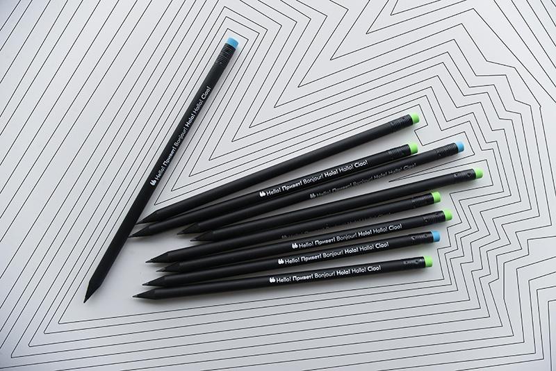 Crayons personnalisés avec le logo de blablacar