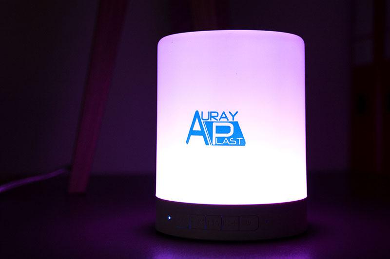 Enceinte bluetooth réalisée pour Auray Plast par Mavip