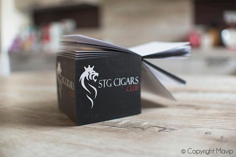 Bloc de post-it personnalisés avec logo STG Cigars Club par Mavip