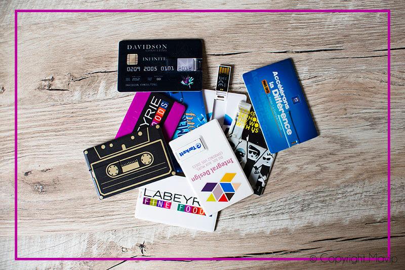 Cartes clés USB personnalisées avec logo d'entreprise
