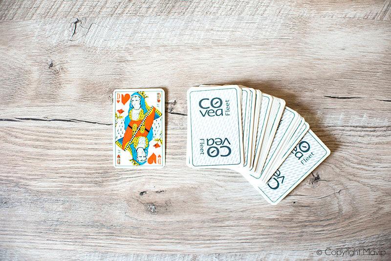 Jeux de cartes réalisés Covea par Mavip
