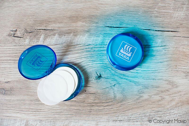 Boites de savon personnalisable avec logo réalisées pour Yara par Mavip