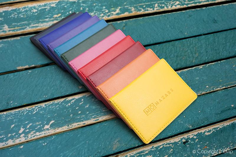 porte-cartes personnalisables avec logo d'entreprise tampographie