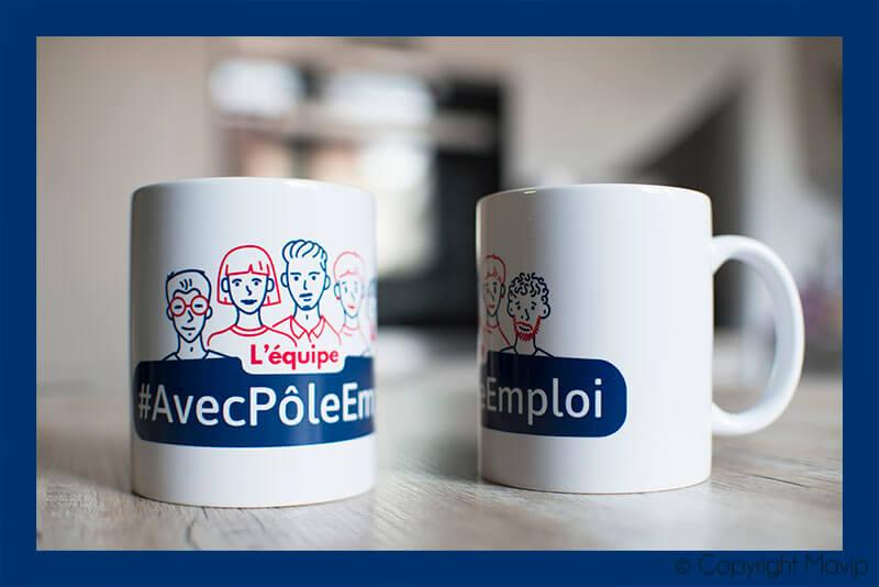 mugs personnalisable avec logo d'entreprise en plusieurs couleurs