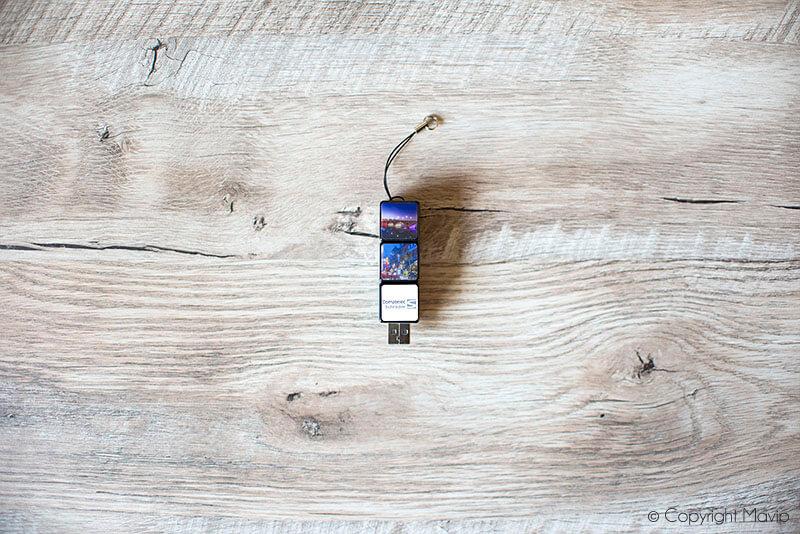 Clés USB Rubik's cube réalisées pour Comatelec par Mavip