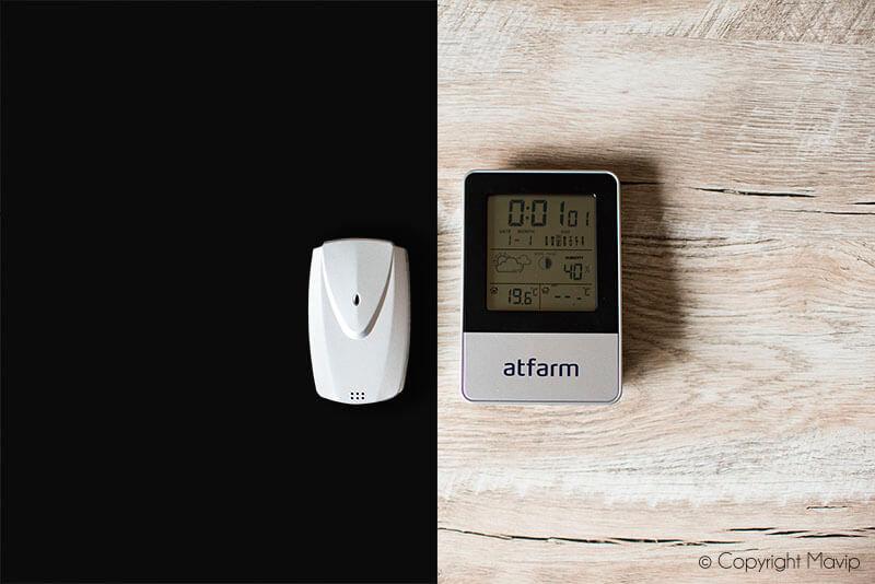 Stations météo personnalisables réalisées pour Atfarm par Mavip