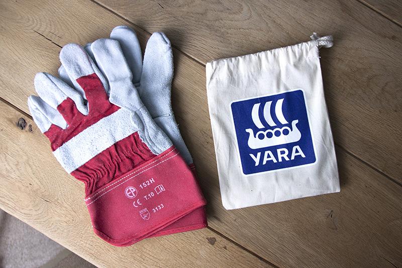 Gants réalisés pour Yara par Mavip