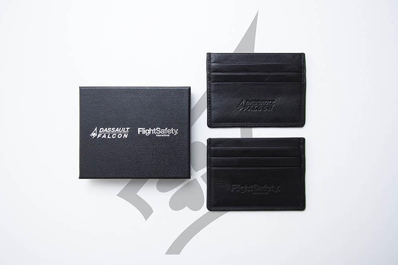 Porte-carte personnalisable avec logo d'entreprise en tampographie