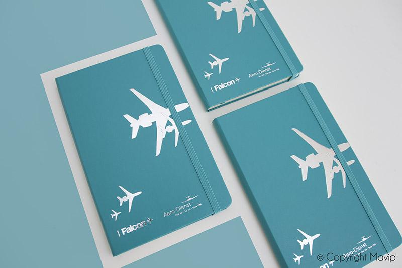 Carnets personnalisés avec logo de Dassault par Mavip