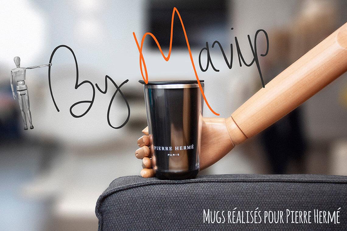 Mugs réalisés pour Pierre Hermé par Mavip