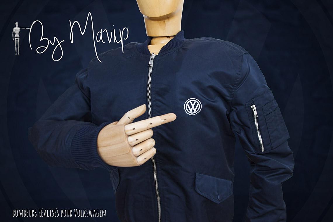 Blouson personnalisés avec logo d'entreprise par Mavip objet média