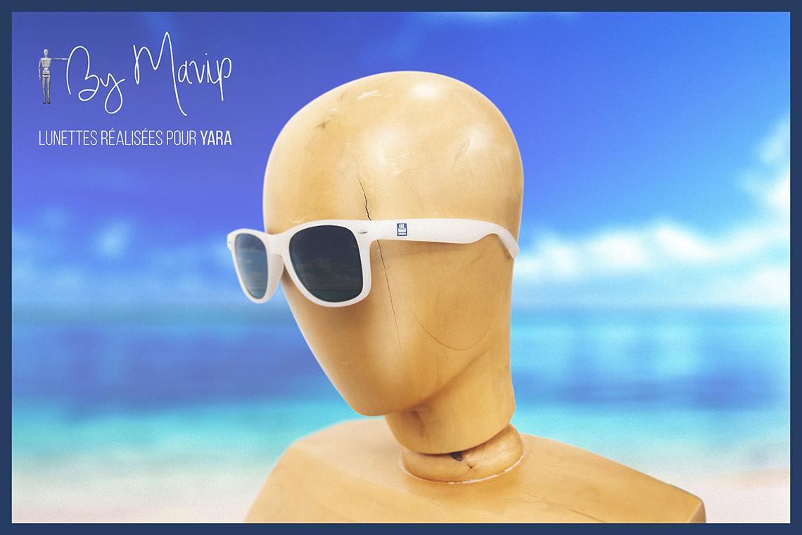 Lunettes de soleil personnalisées avec logo d'entreprise par Mavip objet média