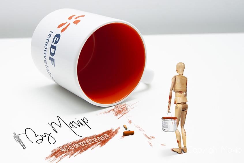 Mugs personnalisés avec logo d'entreprise par Mavip objet média