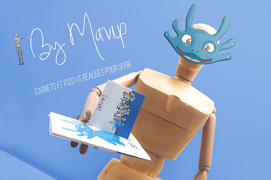 Objet média personnalisées avec logo d'entreprise par Mavip objet média