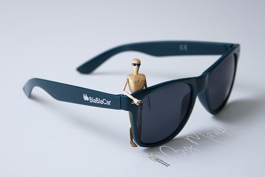 lunettes de soleil personnalisables avec logo Blablacar by Mavip
