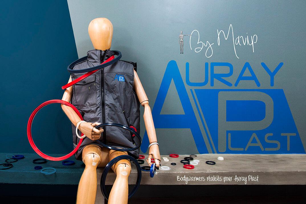 Bodywarmer personnalisé avec logo Auray Plast par Mavip