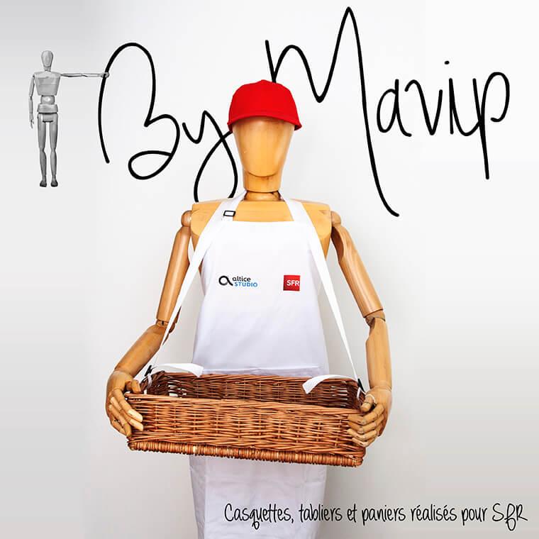 Casquettes tableirs et paniers personnalisables avec logo SFR by Mavip