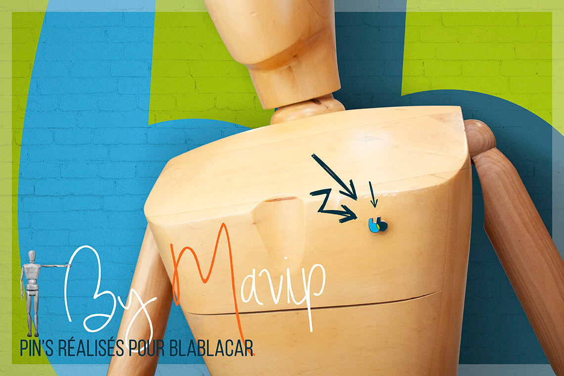 Pin's réalisés pour Blablacar par Mavip