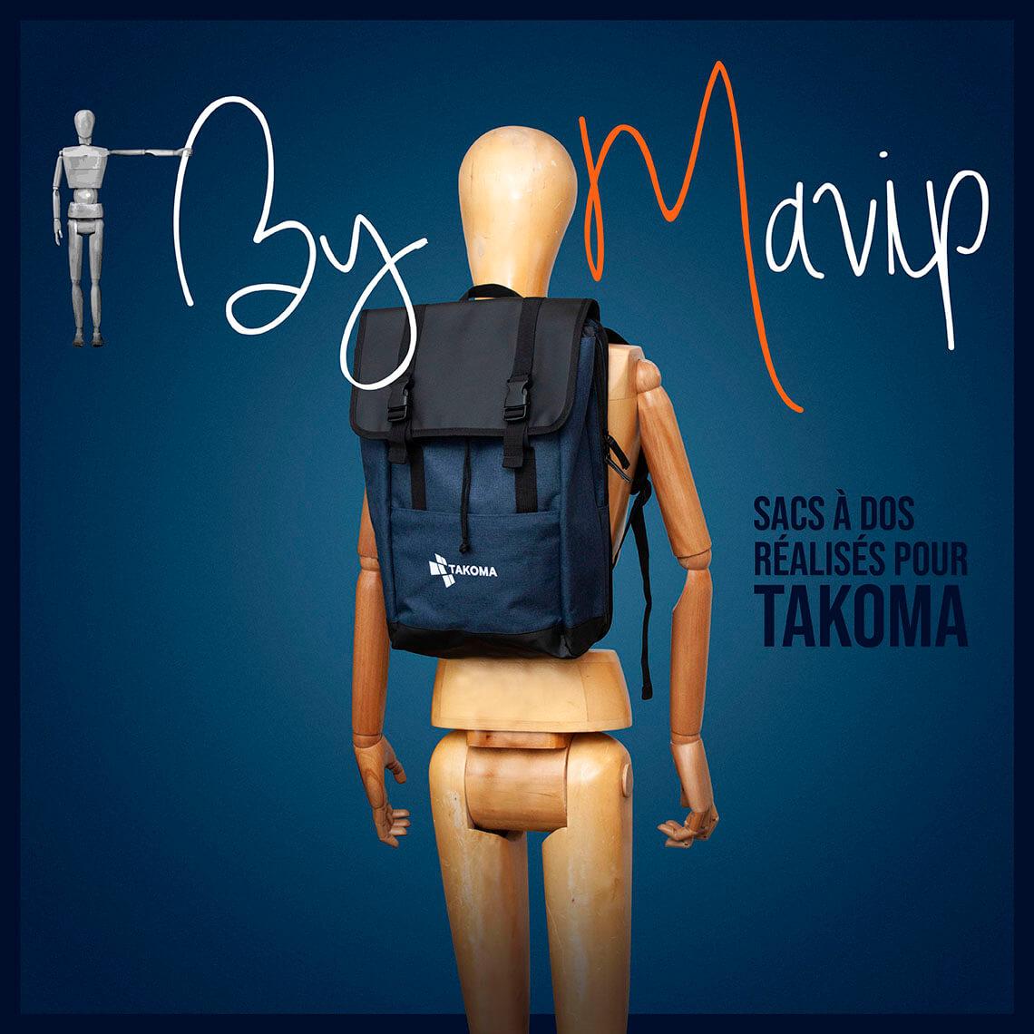 Sacs à dos réalisés pour Takoma par Mavip