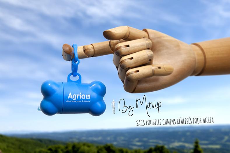 Sacs poubelles pour chiens personnalisables avec logo d'entreprise réalisés par Mavip