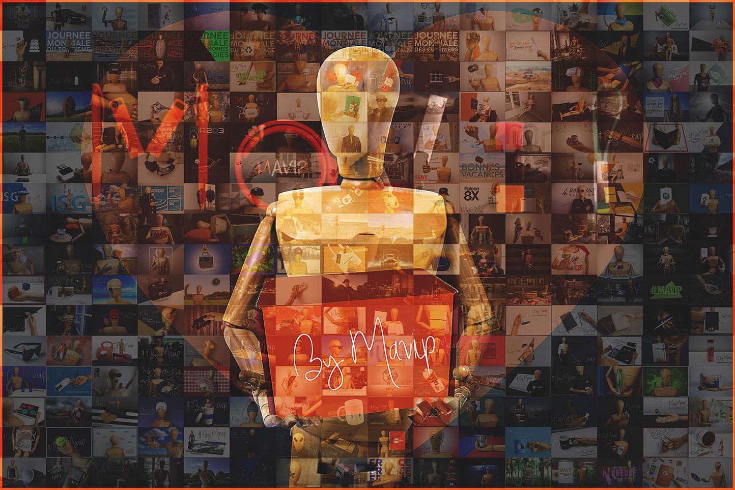 La Saint-Valentin des objets médias personnalisés avec logo d'entreprise