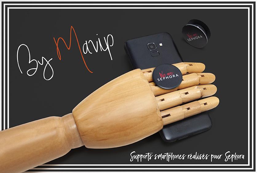 Supports réalisés pour Sephora par Mavip