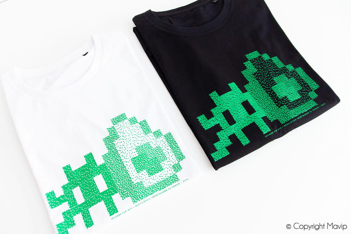 t-shirt personnalisable logo sérigraphie sur Paris by Mavip