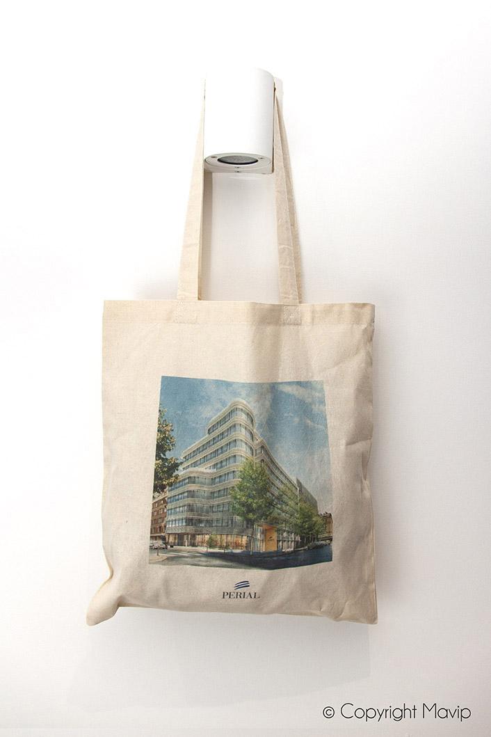 Tote bag personnalisable avec logo d'entreprise objet média by Mavip