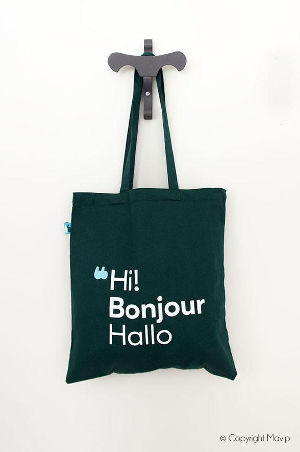 Tote bag sac shopping personnalisable avec logo d'entreprise by Mavip