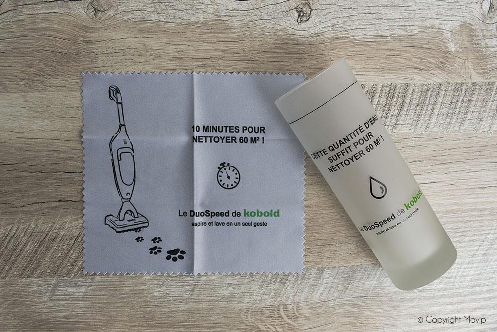 Lingettes et verres personnalisables logo Vorwerk par Mavip