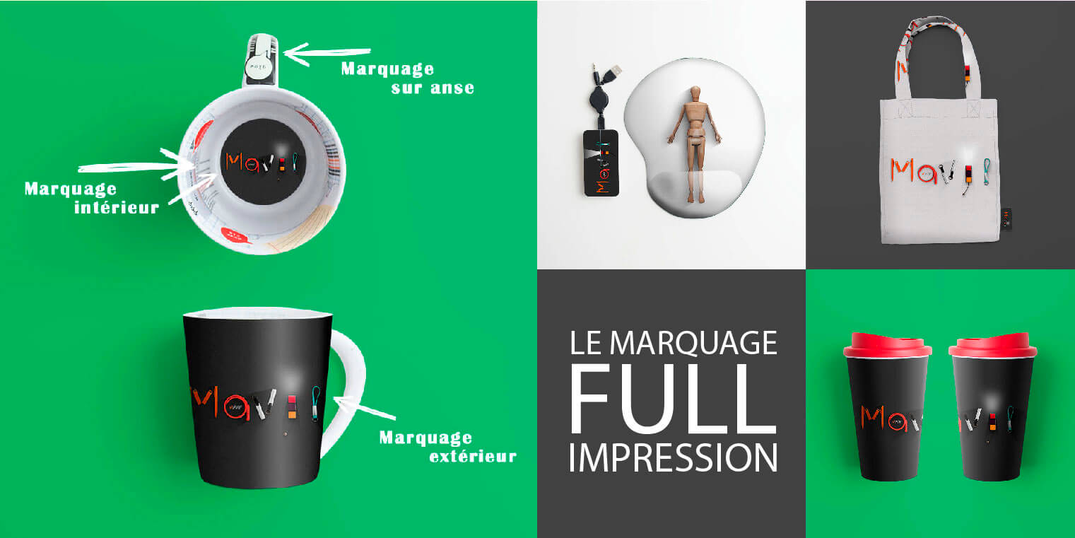 Full impression ou all over par Mavip